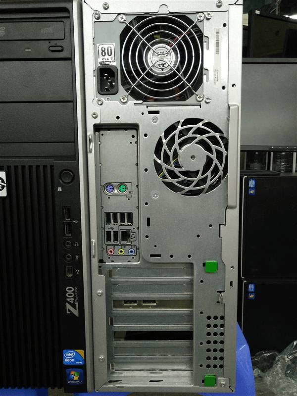 Các cổng kết nối trên Hp Workstation Z400 năm hết phía sau