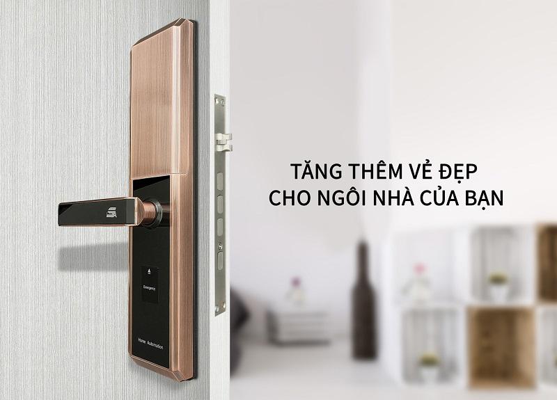 Khóa cửa vân tay giúp ngôi nhà của bạn thêm sang trọng, hiện đại