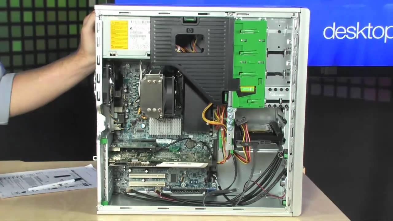 Thiết kế của Hp Workstation Z400 đơn giản với nhiều linh kiện bên trong