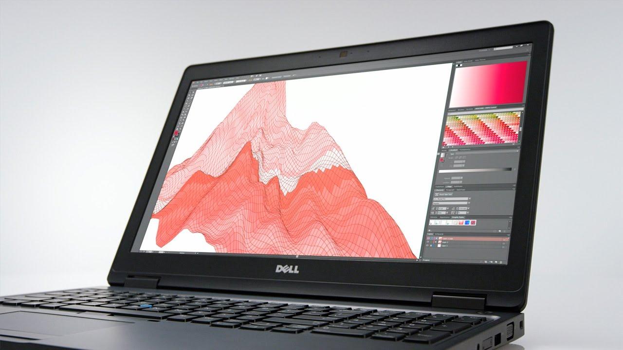 Dell Precision có màn hình IPS cho độ hiển thị sắc nét, chân thực
