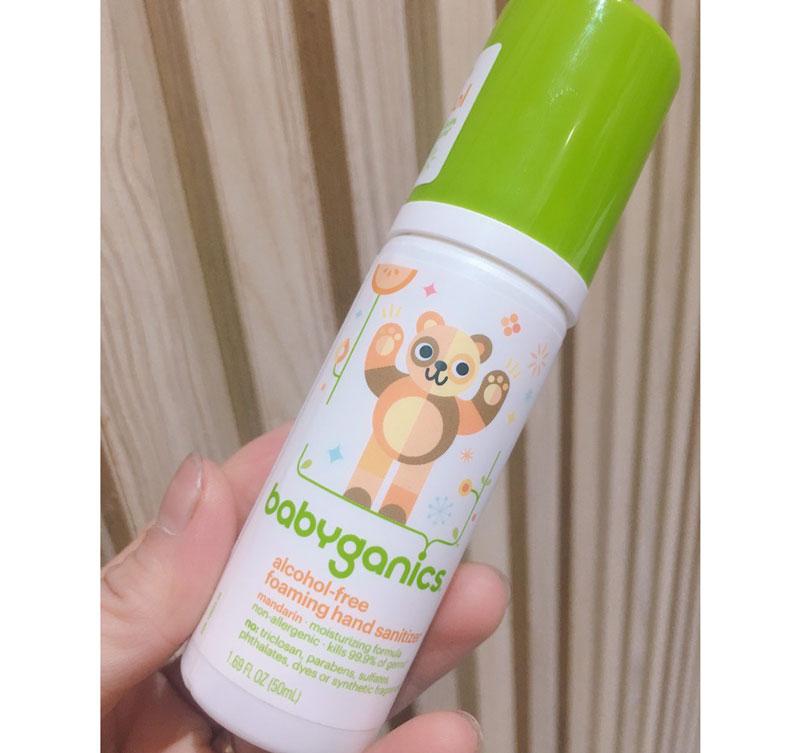 Nước rửa tay khô BabyGanics là dòng sản phẩm cao cấp đến từ thương hiệu Mỹ