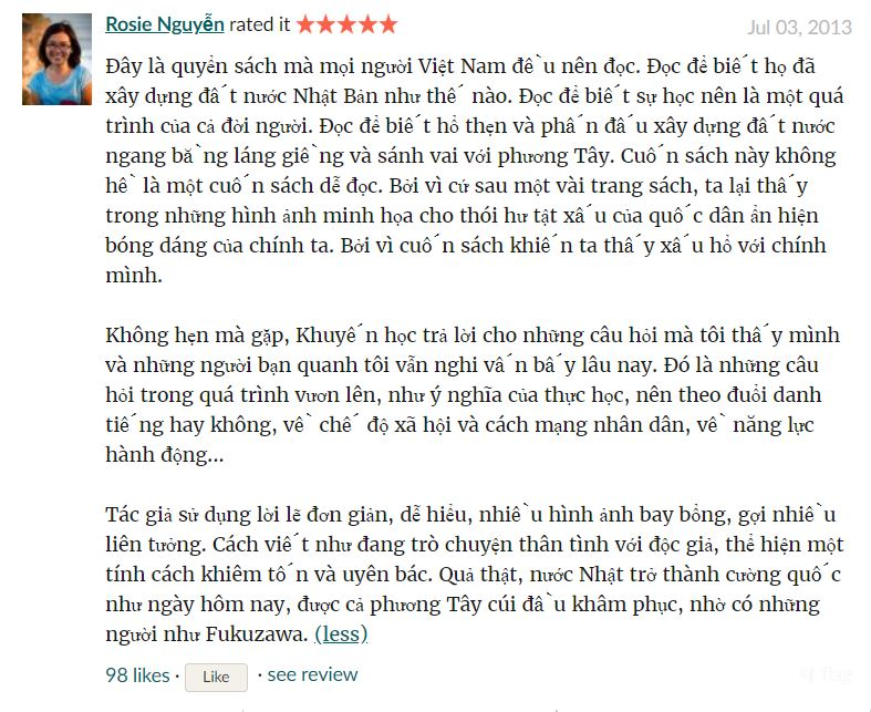 Review của bạn Rose Nguyễn