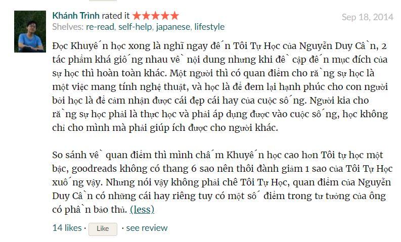 Review của bạn Khánh Trình
