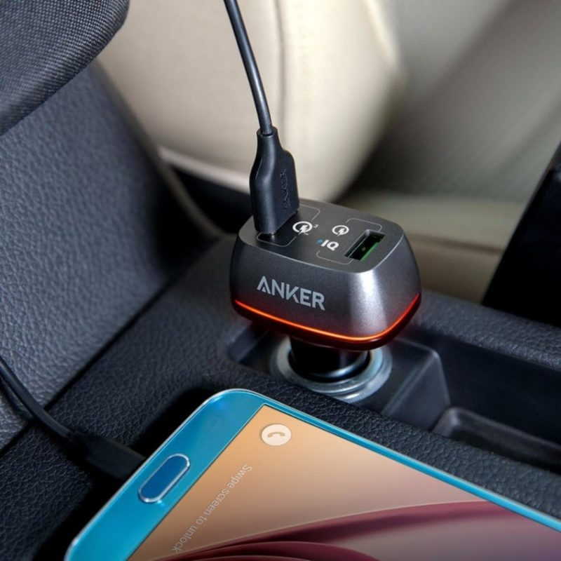 Sạc ô tô ANKER PowerDrive+ 2 cổng USB QC 2.0