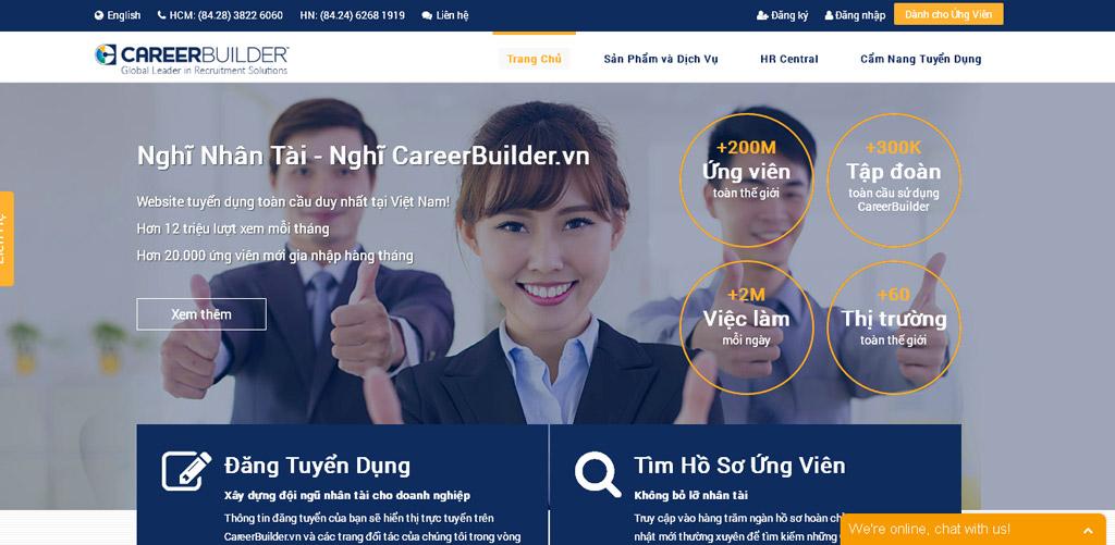 CareerBuilder.vn sở hữu bởi CareerBuilder Mỹ - Mạng Việc làm & Tuyển dụng lớn nhất thế giới.