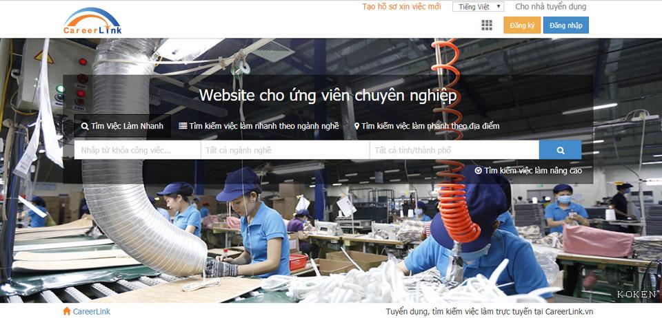 Careerlink - website tuyển dụng việc làm chất lượng uy tín tại Việt Nam