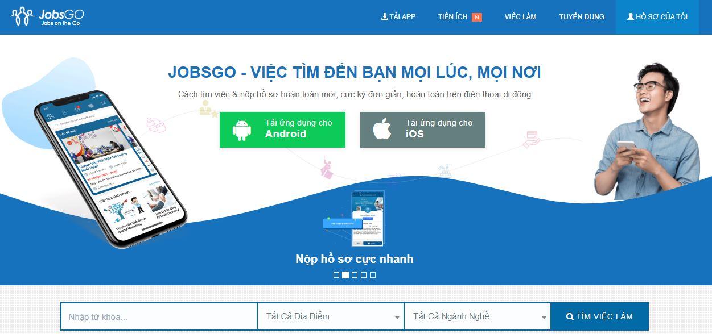 Jobsgo.vn - Cách tìm việc & nộp hồ sơ hoàn toàn mới, cực kỳ đơn giản, hoàn toàn trên điện thoại di động