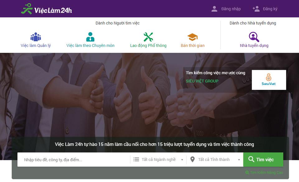 Vieclam24h.com là một trang web nằm trong quyền quản lý của Công ty Cổ phần Nguồn nhân lực siêu Việt