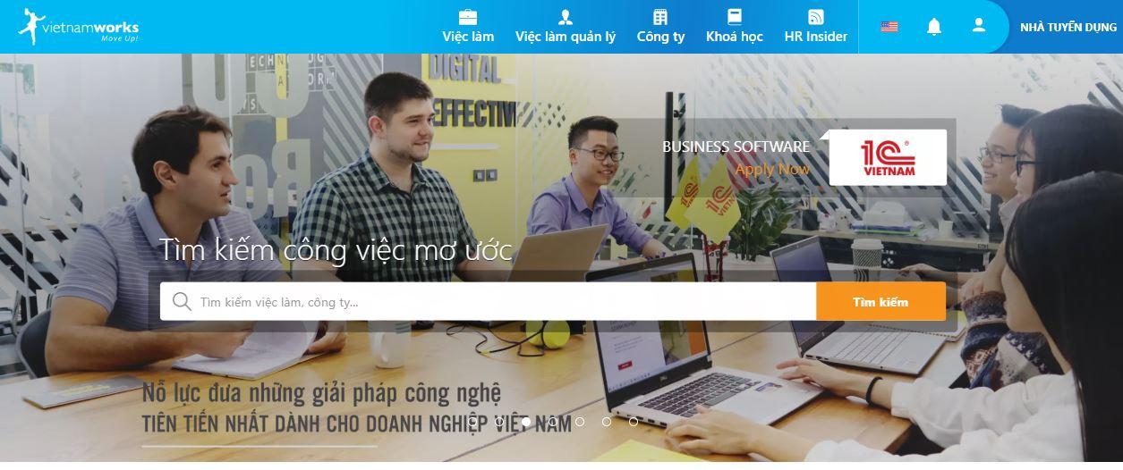 Vietnamworks.com là website tuyển dụng việc làm số 1 tại Việt Nam hiện nay