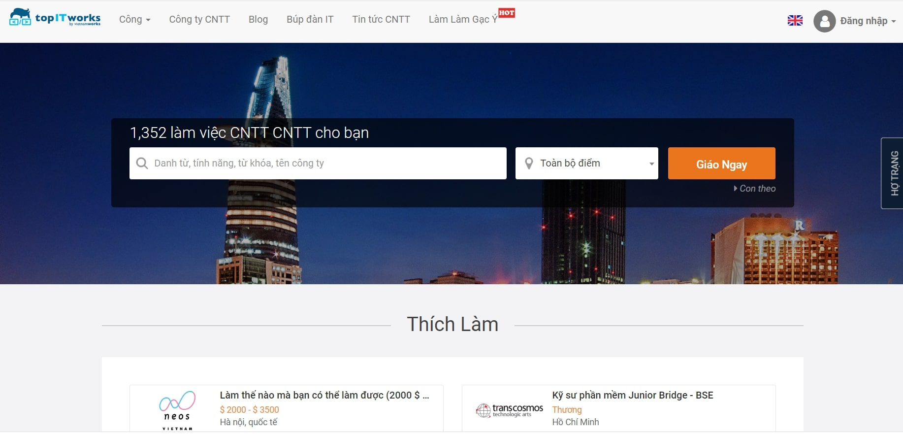 Topit.vietnamworks.com - website tuyển dụng uy tín