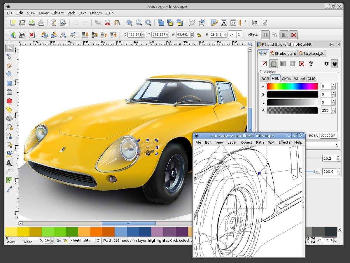 Phần mềm thiết kế đồ họa Inkscape
