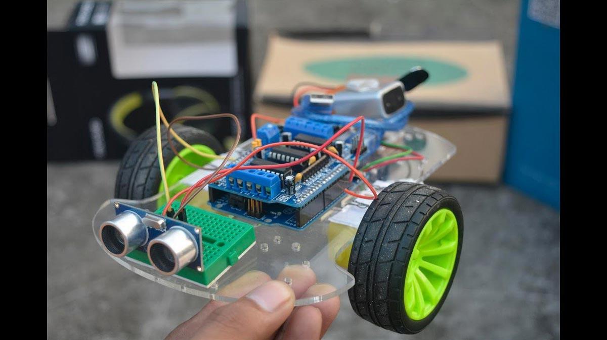 Robot tránh vật cản Arduino Uno