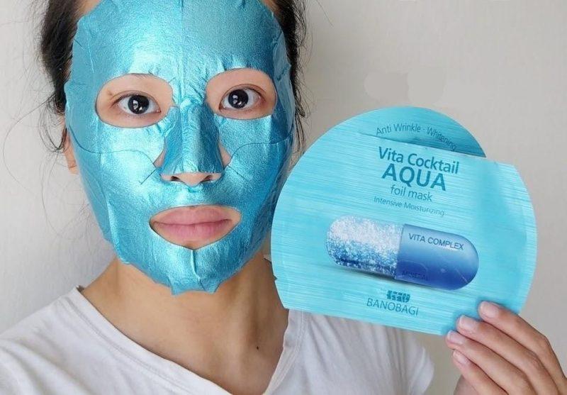 Mặt nạ ngủ cho da khô Banobagi Vita Coctail AQUA foil mask
