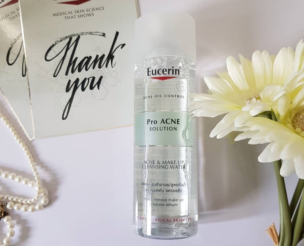 Nước tẩy trang cho da dầu mụn Eucerin Pro Acne Acne & Make Up Cleansing Water
