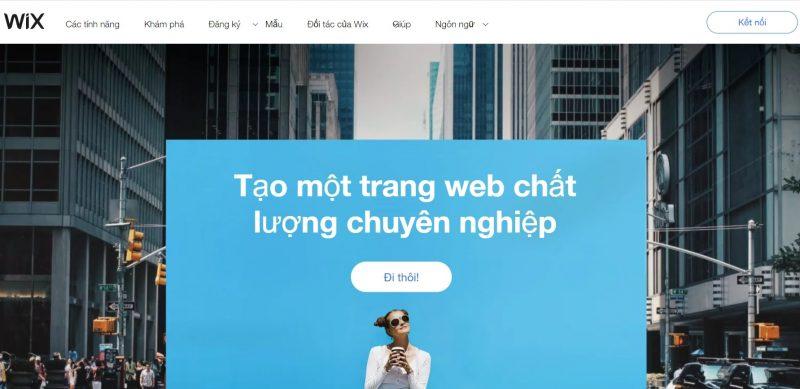 Wix địa chỉ tin cậy tạo nên website chất lượng