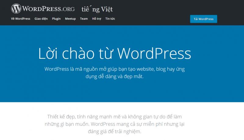 Wordpress thích hợp để tạo các trang web tĩnh