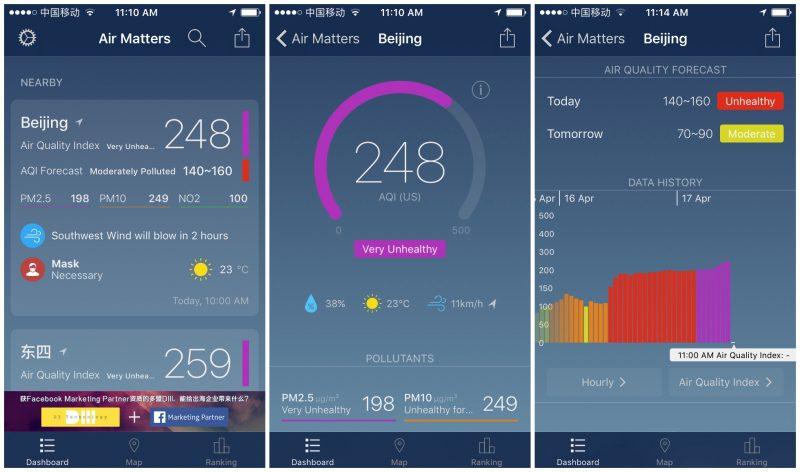 App đo ô nhiễm không khí dễ sử dụng