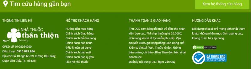 Nhà thuốc Thân Thiện đảm bảo chất lượng, đổi trả sản phẩm giúp khách hàng.
