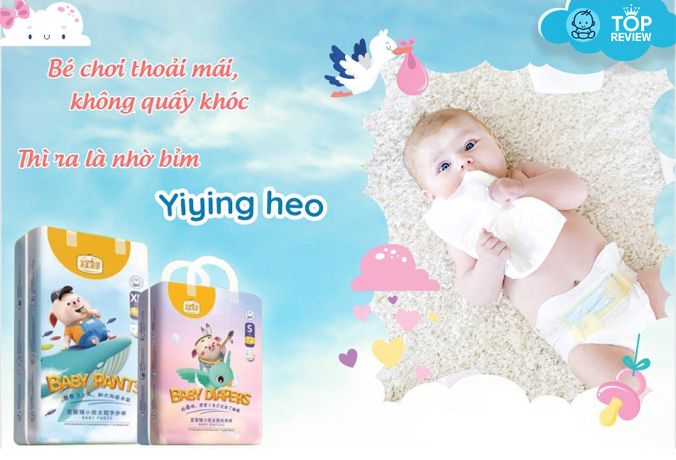 """Bỉm Yiying heo con """"hơi thở bông"""""""