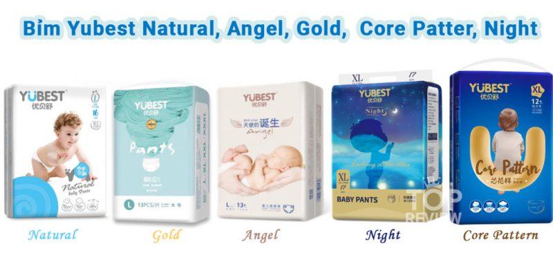 Bỉm Yubest Natural, Bỉm Yubest Angel, Bỉm Yubest Gold, Bỉm Yubest Core Pattern, Bỉm Yubest Night