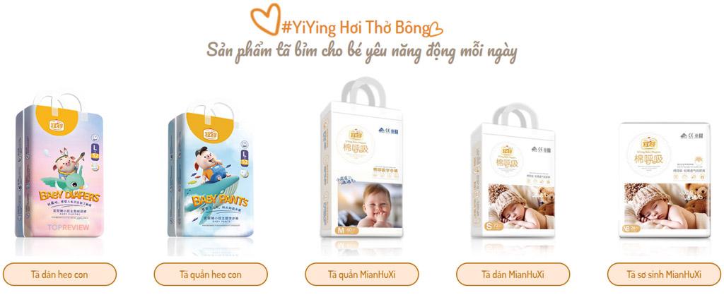Đánh giá các dòng bỉm Yiying Baby hơi thở bông