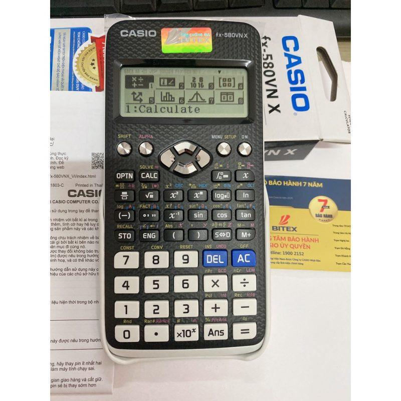 Casio FX-580VNX có đến 521 tính năng tính toán