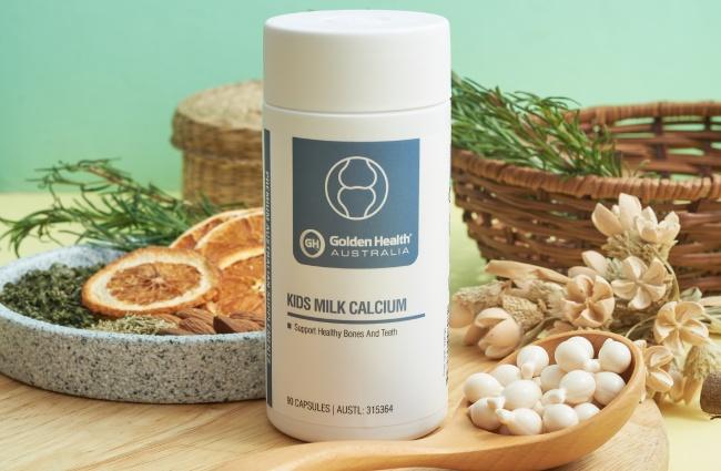 Viên uống bổ sung Canxi Golden Health Kids Milk Calcium (Úc)