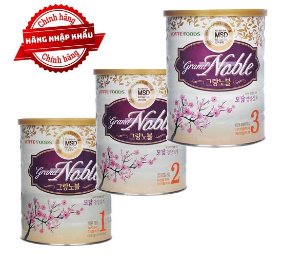 Sữa-Grand-Noble-1-2-3-Lotte-Hàn-Quốc