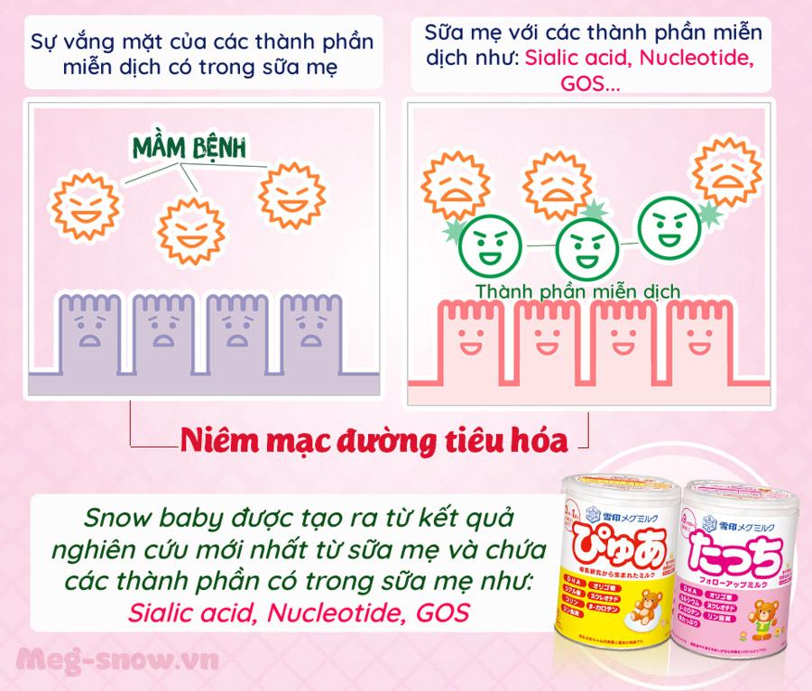 Sialic acid giúp trẻ tăng cường miễn dịch