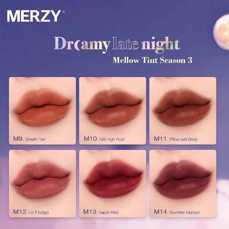 Đôi môi căng mọng và tươi tắn với son Merzy
