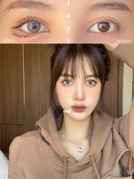 Kẻ mắt eyeliner nhấn vào bọng mắt với chì kẻ mắt