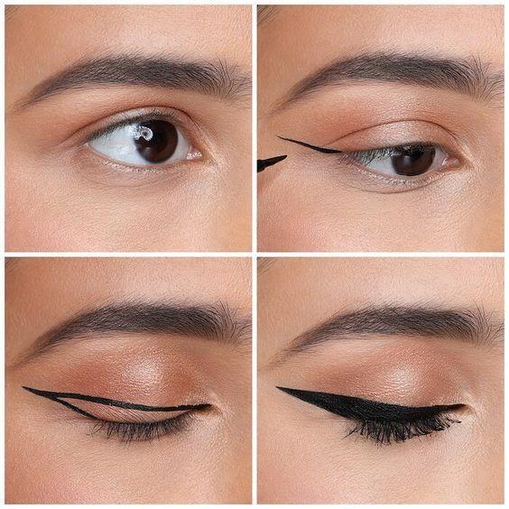 Kiểu kẻ mắt eyeliner Âu Mỹ