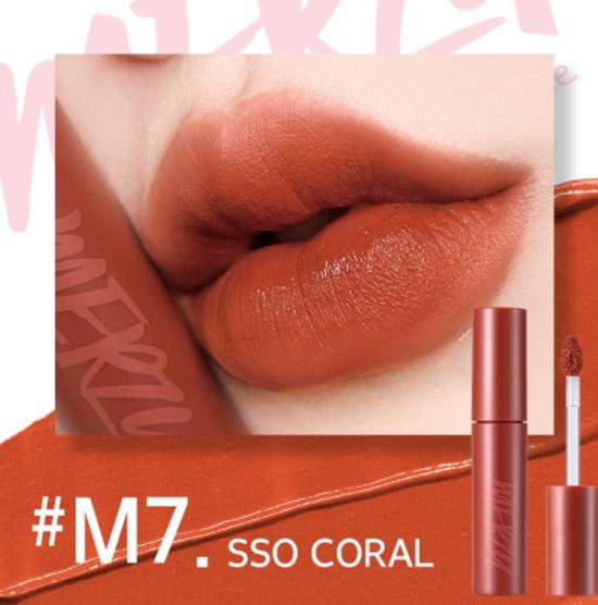 Son Kem Lì Merzy Bite The Beat Mellow Tint - #M7 SSO CORAL